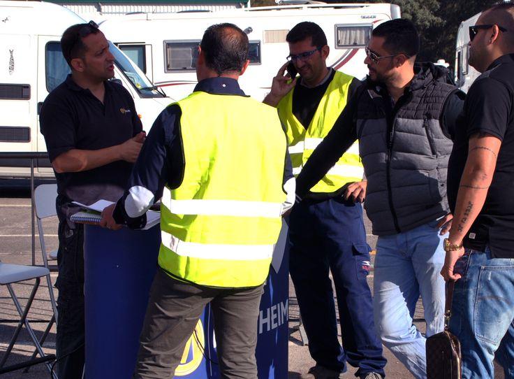 Recepción de asistentes a la Subasta Móvil LeasePlan de Sevilla del 21 de Octubre de 2015. Organizada por Manheim España