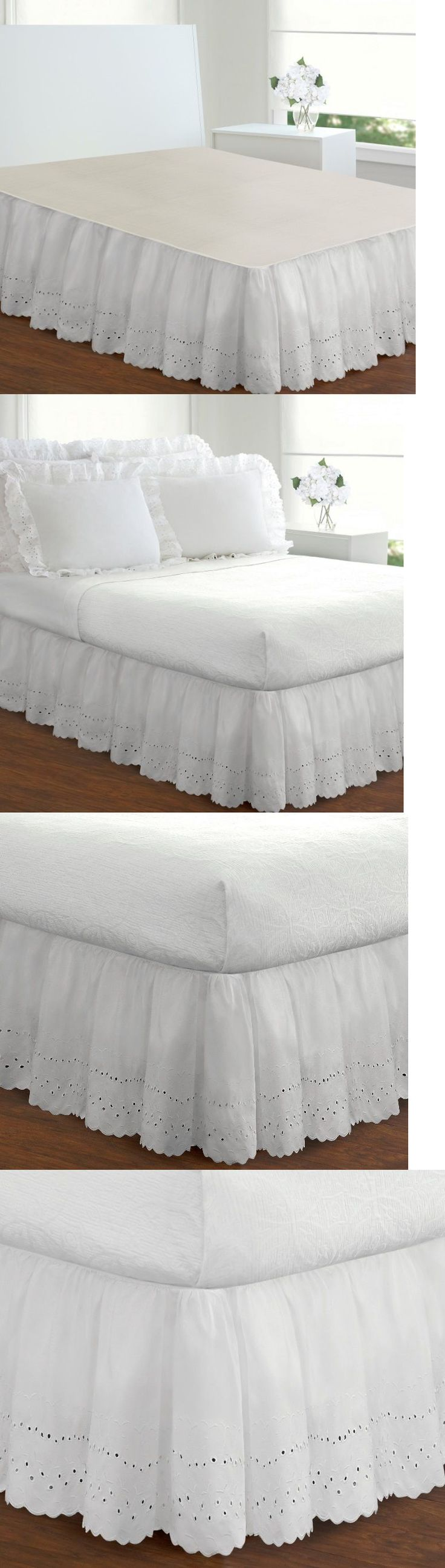 Bed Skirts 20450: Extra Long White Bed Skirt King Size 18 Inch Drop Eyelet Poplin Dust Ruffle -> BUY IT NOW ONLY: $51.95 on eBay!