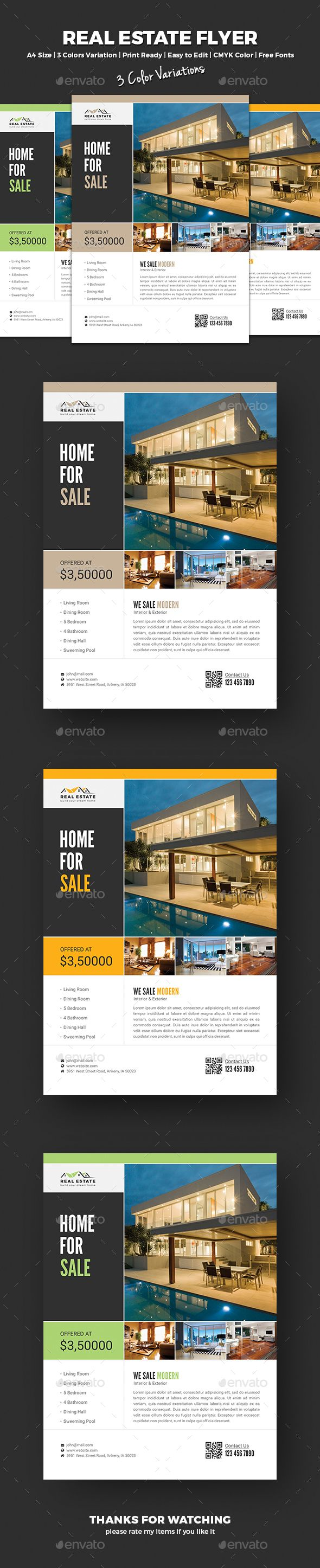 #Real Estate Flyer - Corporate Flyers Download here: https://graphicriver.net/item/real-estate-flyer/17759963?ref=Classicdesignp