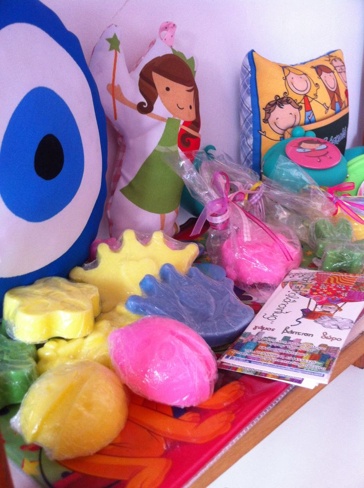Handmade pillows and soaps at babyfeat center