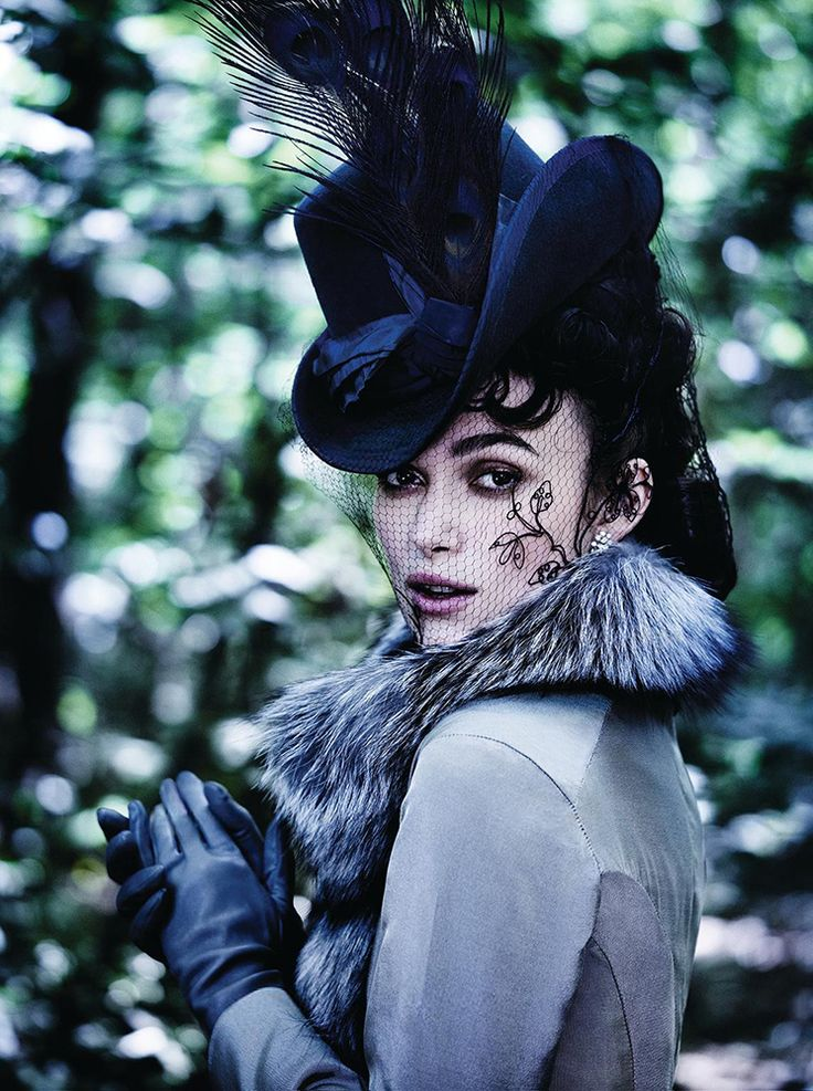 Keira Knightley for Vogue October 2012...THAT hat...THAT veil. I die.