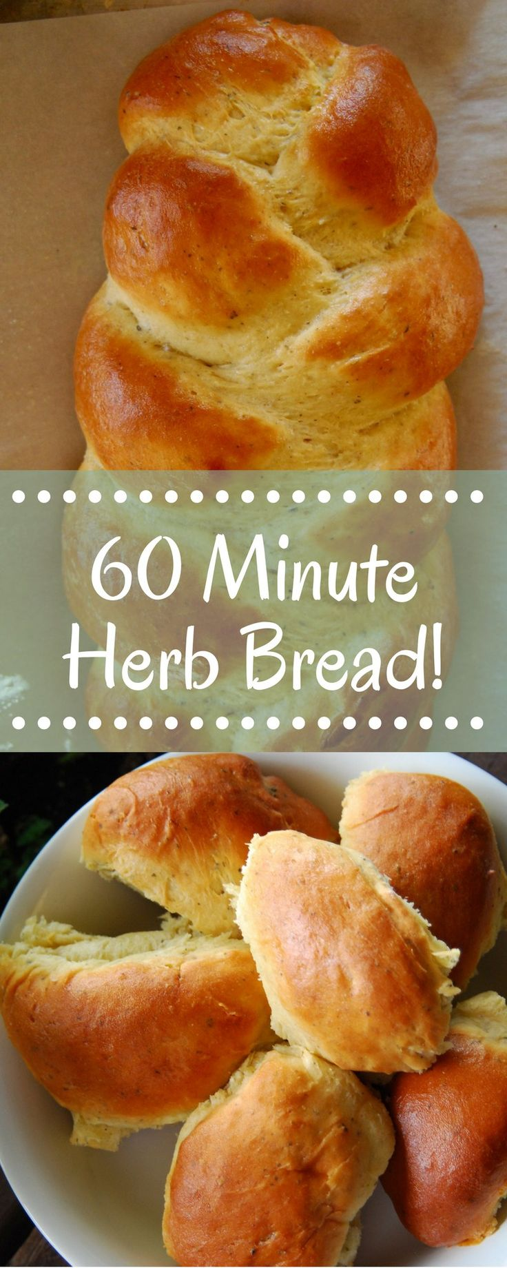 This 60 minute homemade herb bread is not only a showstopper, it's delicious and one of the easiest yeast breads you'll make! Perfect for the beginning baker or the seasoned bread pro.