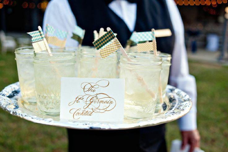 St. Germain cocktails in mason jars #wedding | Drinks | Pinterest ...