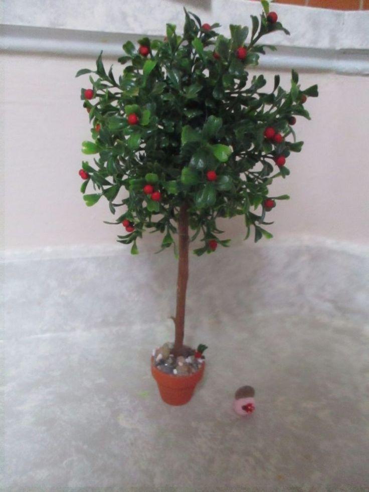 "11 3/4"" miniature doll/dollhouse/Diorama Garden Apple Tree"