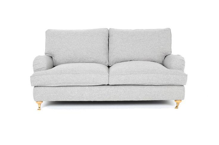 Soffa Howard deluxe dun 2-sits ljusgrå