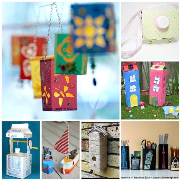 Get those old Milk Cartons or Juice Cartons and GET CRAFTY!! Over 25 great ideas here to inspire you!