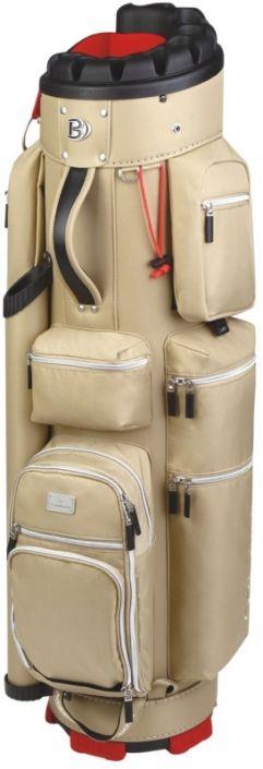 Beige Quiet Organizer Trolley Bennington Ladies Golf Cart Bag available at Lori's Golf Shoppe