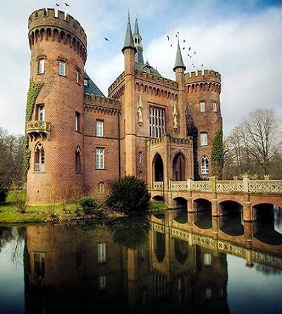 Moyland Castle, Germany. More Castles http://scenic-calendars.com/castles-calendars.htm