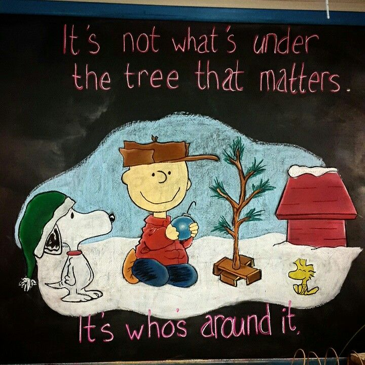 Christmas chalkboard design for a retail gift shop  #christmas #chalkboard #art #charlie #brown  #pastels #chalk #xmas #snoopy #comic #diy #retail