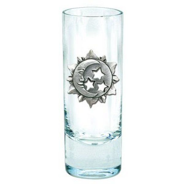 Celestial Pewter Accent Tall Shot Glasses Set Of 4 Shot Glasses Glasses Shot Glass