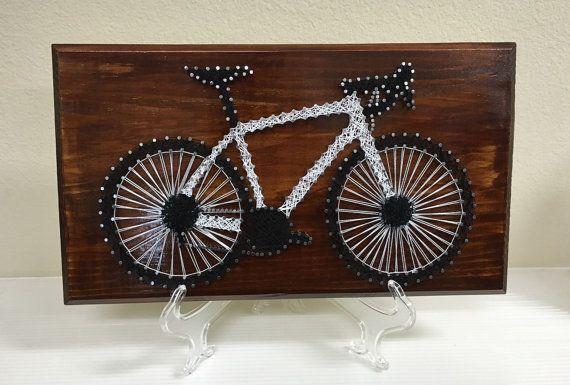 Road Bike  Nail String Art by CustomsByCristina on Etsy