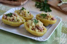 Le barchette di patate al tonno sono un piatto molto veloce,semplice da preparare,economico e molto saporito,bastano 3 ingredienti e fanno felice tutti...
