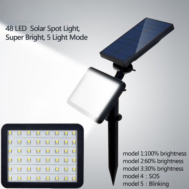 48 LED Solar Powered Flood Light Outdoor Yard Garden Spot Lamp Waterproof Newest