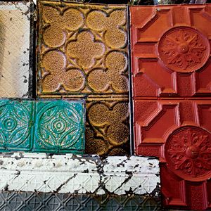 embossed metal ceilingsCeilings Tins, Embossing Tins, Beautiful Painting, Embossing Ceilings, Tins Ceilings, Ceiling Tiles, Ceilings Tile, Painting Ceilings That, Ceilings Salvaged