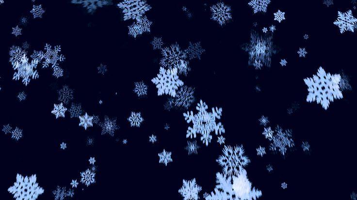 Футаж - Падают снежинки