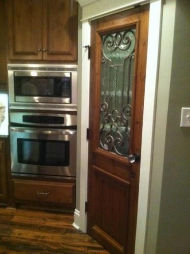 Wrought Iron Inset Used On Pantry Door Custom Doors