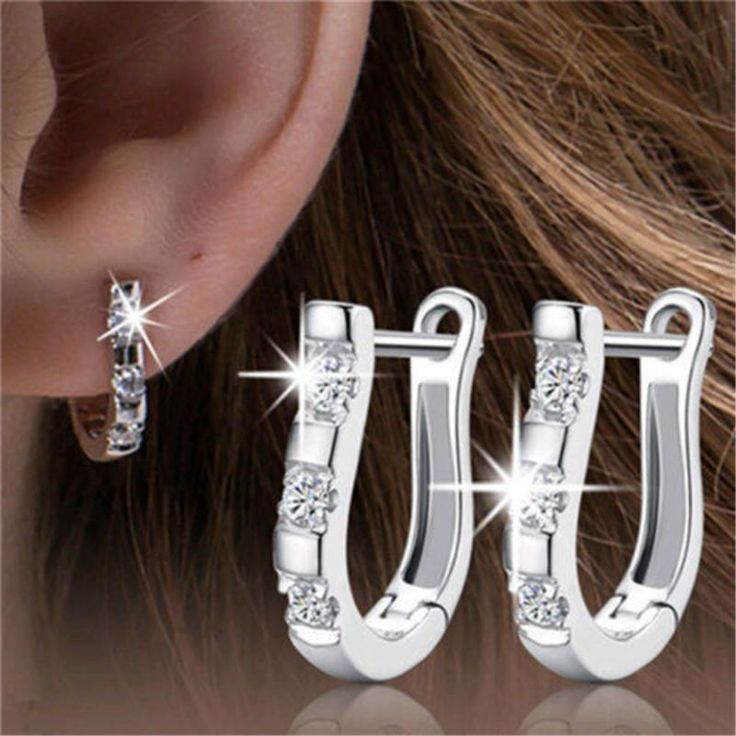 Crystal Horse Shoe Earrings
