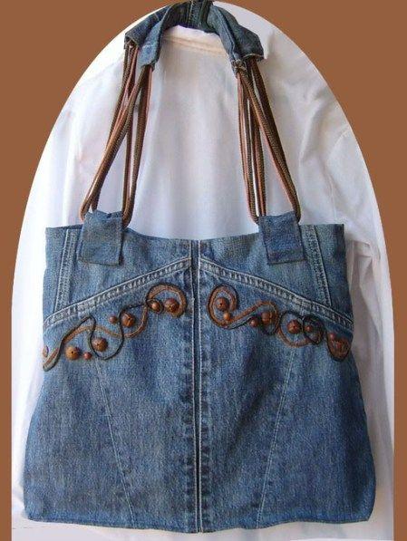 Resultado de imagen para bolso con retazos de jeans