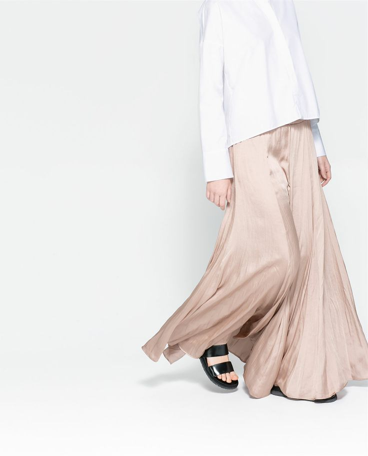 Image 3 of LONG FLOWY SKIRT from Zara