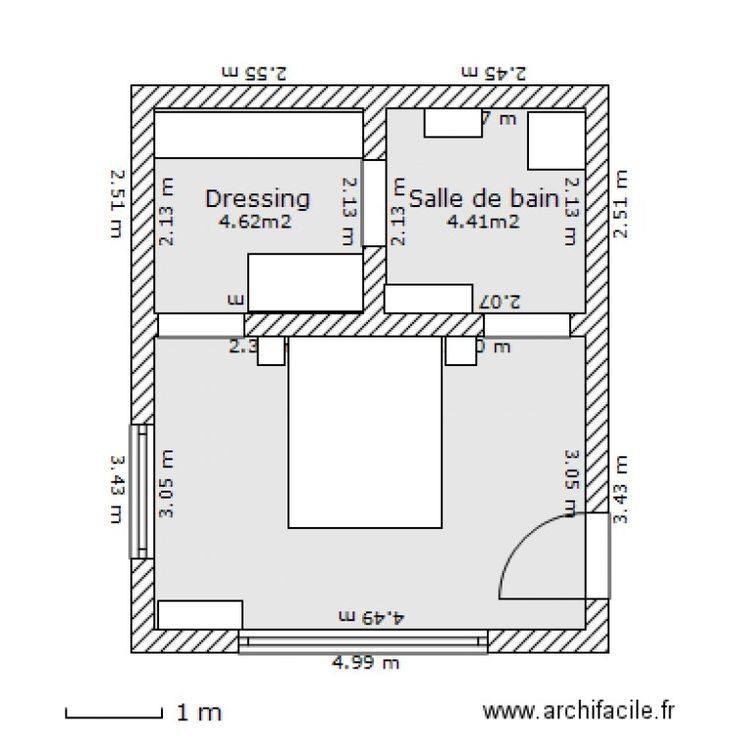 Plan Chambre Parentale Avec Salle De Bain Et Dressing #10 – Chambre Parentale 1 – Audrey Papini