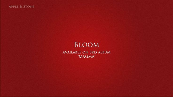 Apple & Stone - BLOOM (3rd album - Magma) BUY on : Website (Album 10,- USD) - http://www.appleandstone.com