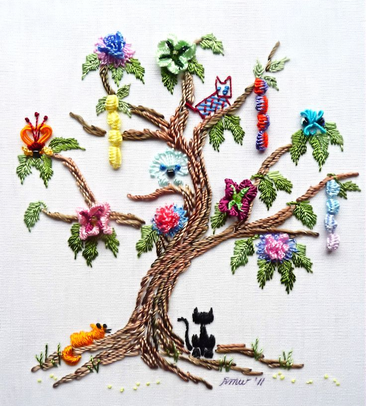 Best images about embroidery trees on pinterest hand