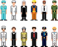 People occupations pixel art icons Royalty Free Stock Photo