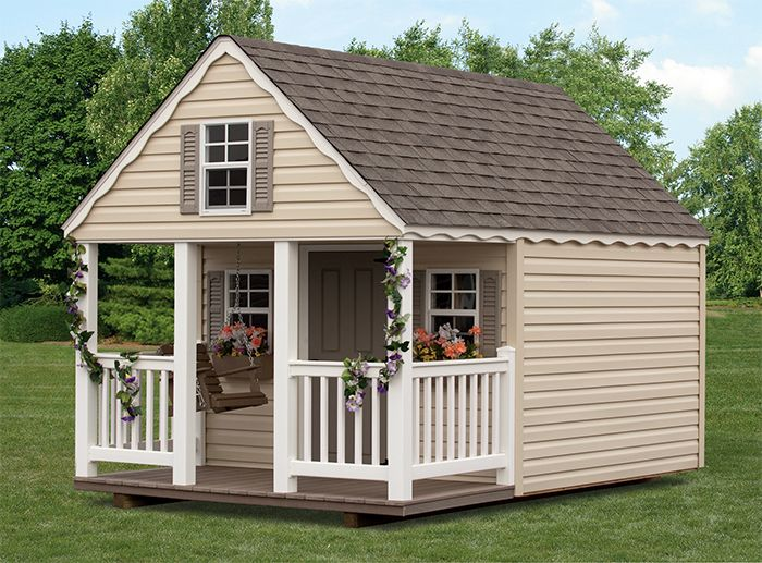 56 best playhouse stuff images on pinterest for Shed with loft and porch