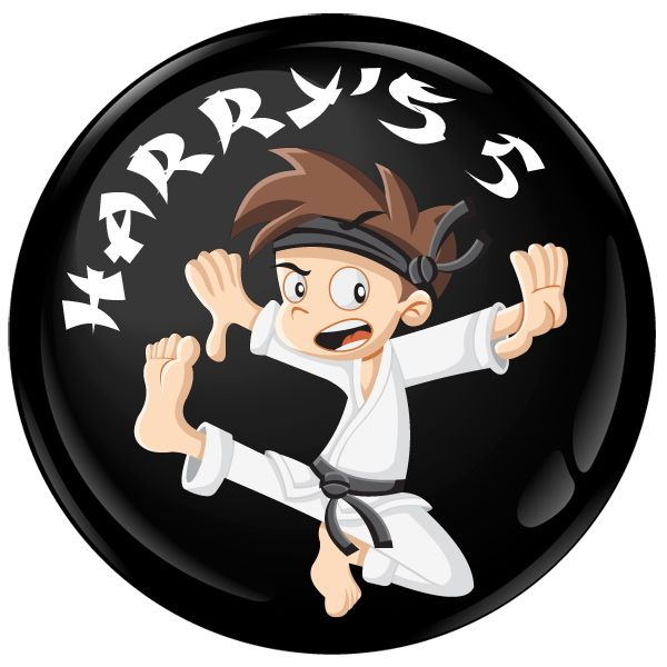 Martial Arts Personalised Birthday Party Badge #471