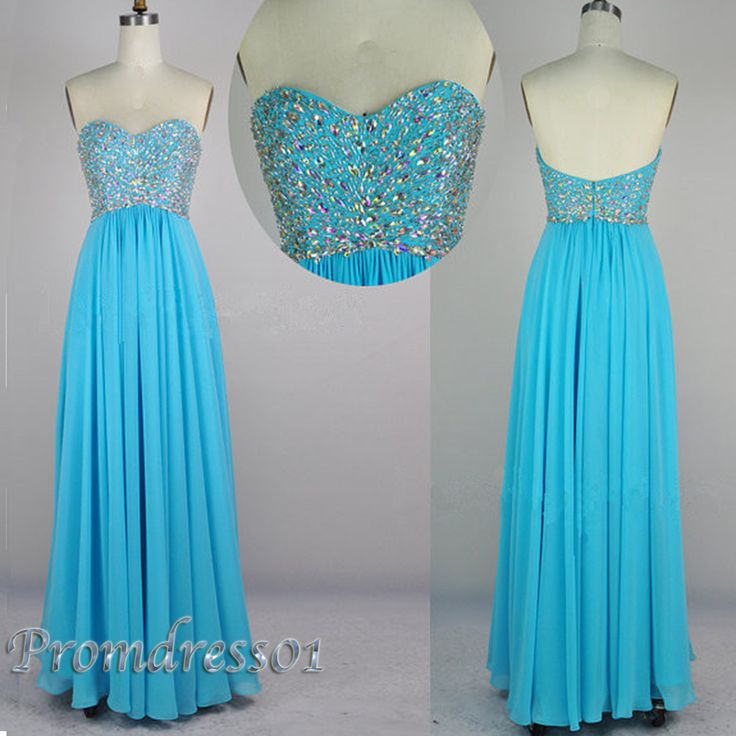 2015 sparkly blue sweetheart long prom dress, ball gown, cute+dresses+for+teens