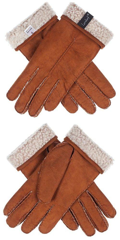 Lundorf Natalia Womens Sheepskin Gloves Lambswool Lined Cognac Tan - 7.5