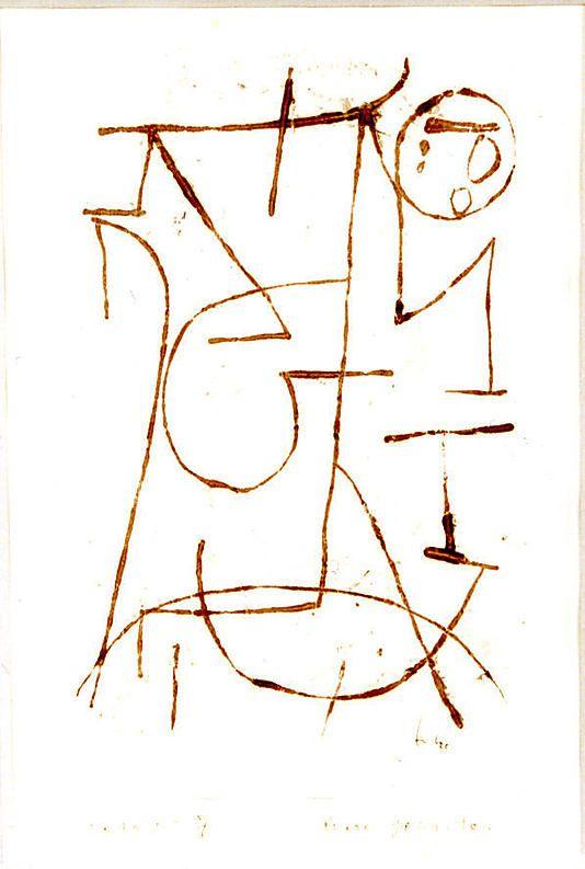 Fuerzas Internas  Paul Klee (alemán (nacido en Suiza), Münchenbuchsee 1879-1940 Muralto-Locarno)  Fecha: 1939 Medio: Gouache dibujo de transferencia sobre papel, montado sobre papel Dimensiones: SOPORTE PRIMARIO: 11 5/8 x 8 1/4 pulgadas (29.6 x 21 cm) soporte secundario: 16 1/8 x 12 1/2 pulgadas (41 x 31,8 cm) Clasificación: Dibujos Línea de crédito: Don de Alfred Soman, 2010