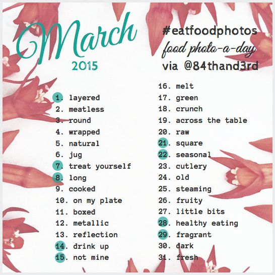 March 2015 Photo Challenge #eatfoodphotos: The Food Photo-A-Day!
