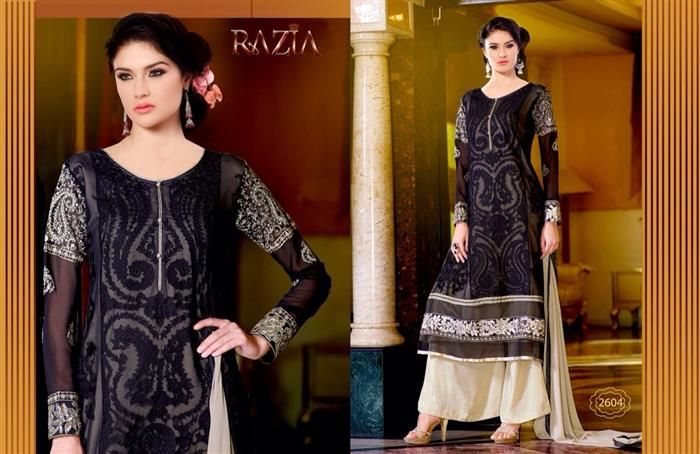Attract the spotlight  wearing this Royal and Beautiful  Dyed Ryon and Bamberg Chiffon with Handwork Anarkali Style Suit. The embroidered decorative patterns along with fancy border brings out the sophisticated grandeur from within you. The Dress Comes with thread enhanced with zarkan hand work sewn in kali form. This suit comes with matching Chiffon Dupatta , with stone work all over with thread embroidered patti at borders.