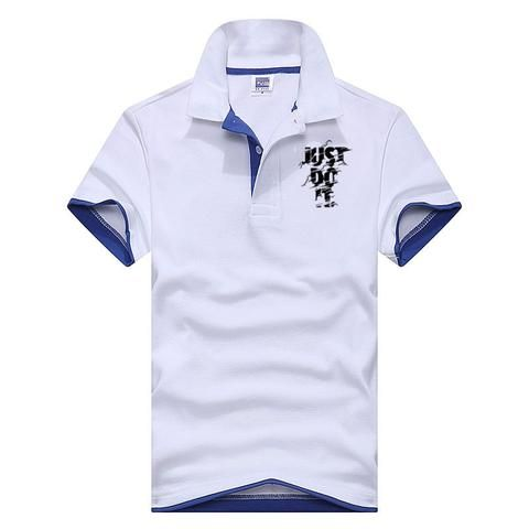 78bb75213737 2018 New Fashion Camisetas Short Sleeve Polo Masculinas Turn Down Collar  Summer Casual Men s JUST TO