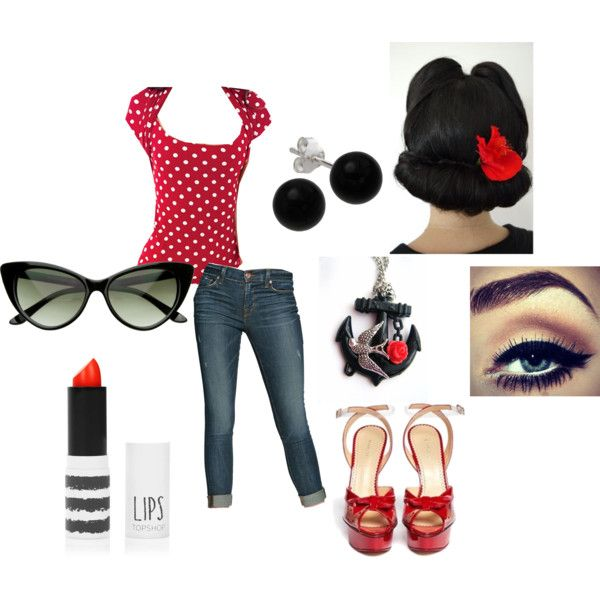 """Rockabilly"" by dynamitestina on Polyvore - I  really like this outfit!"