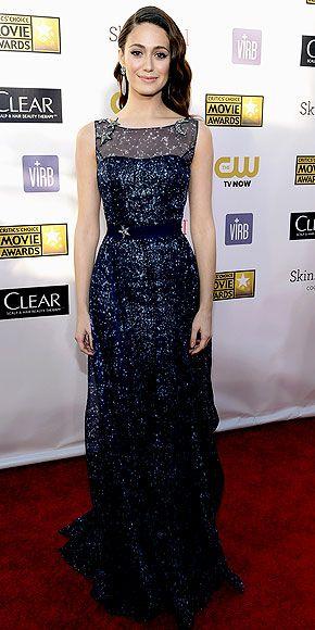 Emmy Rossum - Crictics' Choice Awards - Carolina Herrera gown