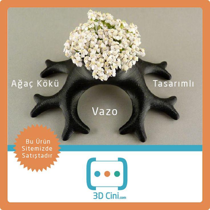 3d printer ile özel üretilmiş ağaç kökü tasarımlı vazo! www.3dcini.com #3dprinter #3dPrinterÜrünleri #3DBaskı
