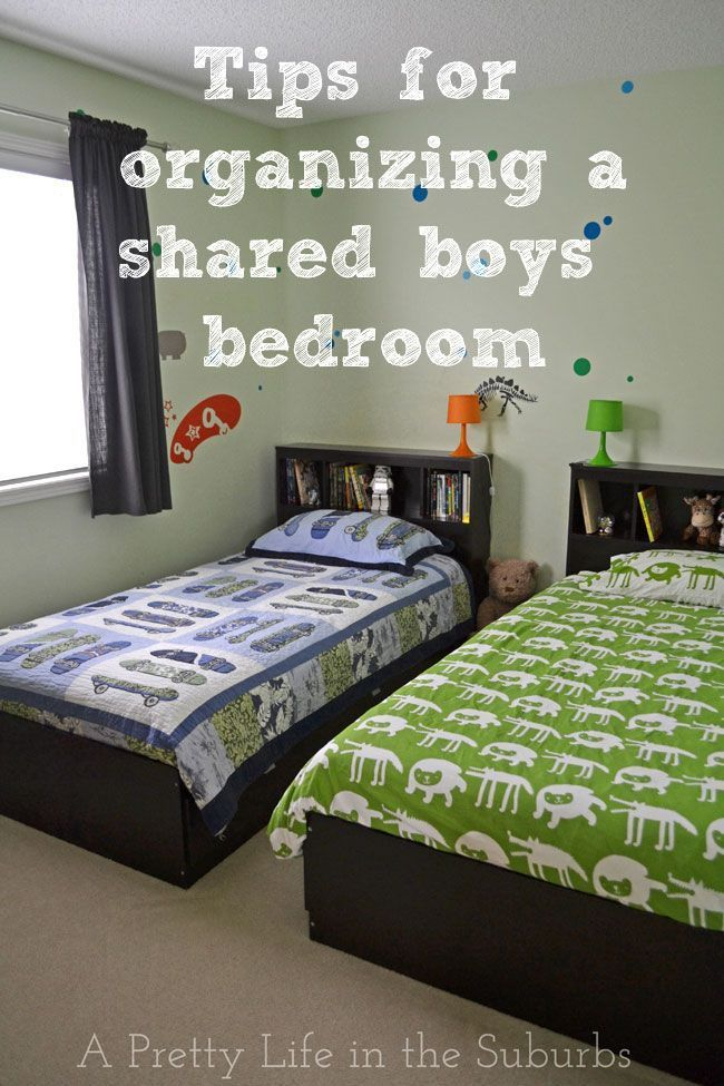 Tips For Organizing A Shared Boys Bedroom A Pretty Life Organizing A Shared Bedroom Childrens Bedroom St Boys Shared Bedroom Boys Bedrooms Kids Rooms Shared