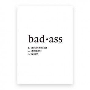 mini poster Bad-ass A5