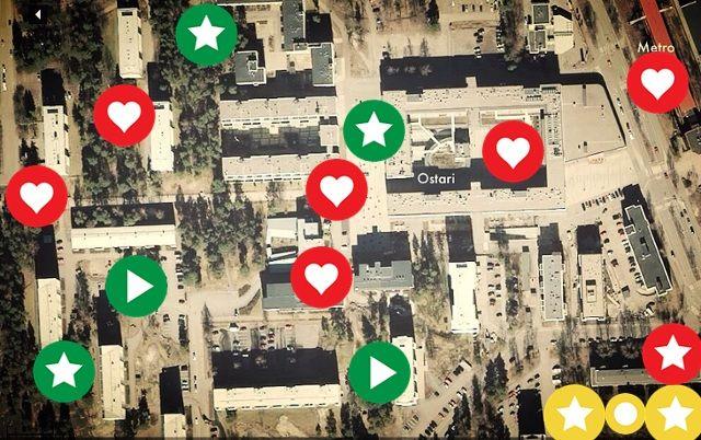 Myllypuron Citykävely 2014 on tehty ThingLink-sovelluksella iPadilla.