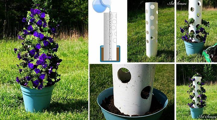 Направи си сам вертикална градинка от петунии за дома | Art senses – артистични идеи за интериор и градина