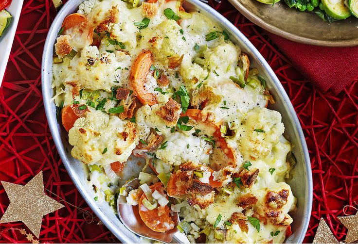Everyone loves a good cauliflower bake. Why not change yours up a little bit and add some sweet potato for an even more tastier, main-meal accomplice.