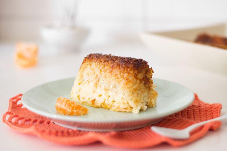 Mandarina Satsuma & Brown rice Pudding   Pudin de mandarina Satsuma y arroz integral