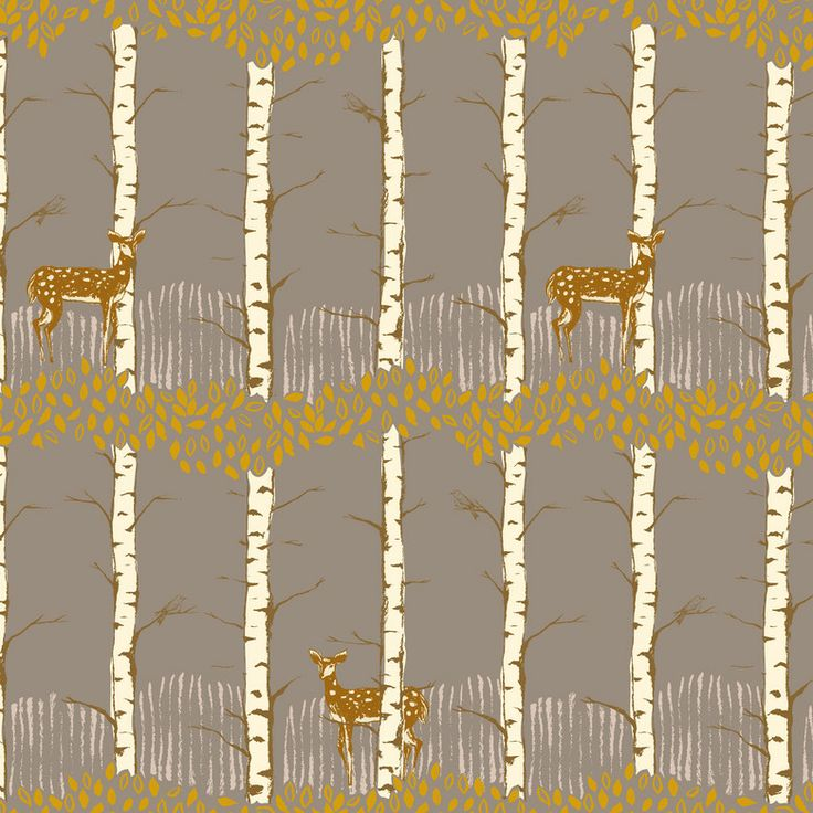 Timber and Leaf – Fawn in Birch Grey | Fabric Rehab