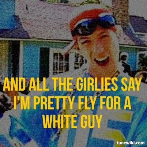 Song lyrics pretty fly for a white guy