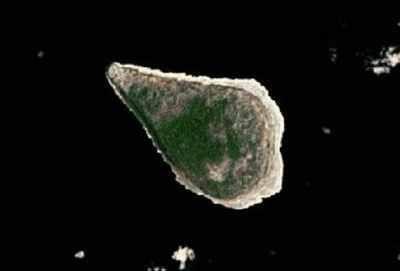 Navassa  Island is an uninhabited Caribbean Island 30 miles south of Haiti