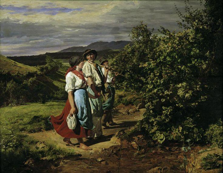Ferdinand Georg Waldmüller - Heimkehr von der Arbeit (Die Liebenden am Scheideweg) 1861