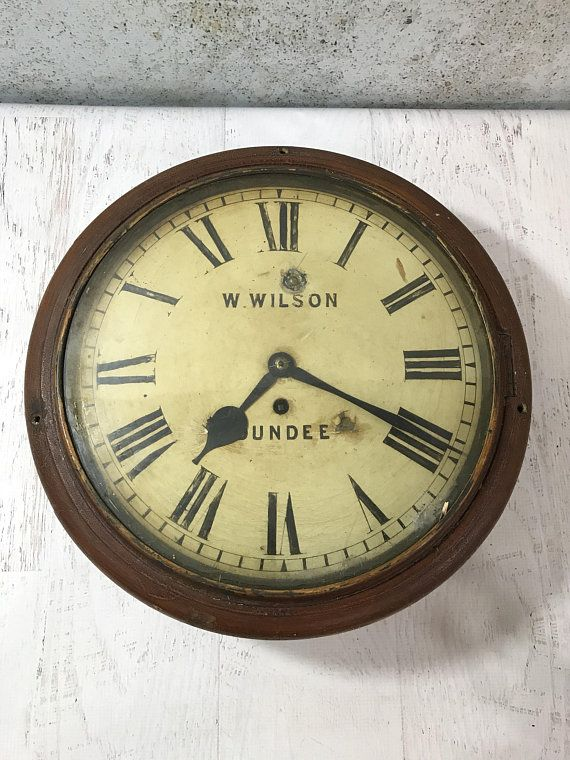 Your Place To Buy And Sell All Things Handmade Vintage Wall Clock How To Antique Wood Wall Clock