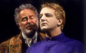 """Alec McCowen and Simon Russell Beale in RSC's '93 """"Tempest"""""""